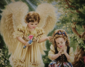 Angel fleece blanket  child Mother's Day Gift Throw