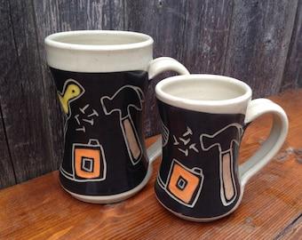 Father and Son Tool Mug Set