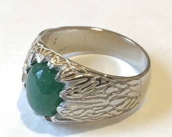 Nephrite Jade Ring-sz 10