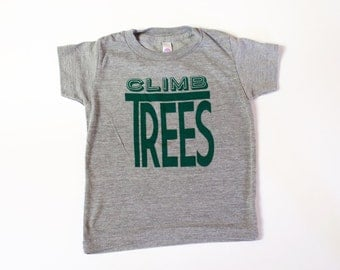 kids graphic top, CLIMB TREES, unisex kids top, clothing for toddler and youth, boys tops, girls tops, hip kids' tops