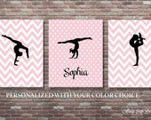Gymnastics Sign, Personalized Gymnastics Sign, Gymnastics Wall Art, Custom Color Wall Art, INSTANT DOWNLOAD, Gymnastics Party Decor