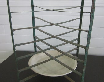 antique French pie rack plate stand