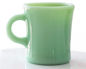 Fire King Jadite Jadeite Restaurant Ware C Handle Mug