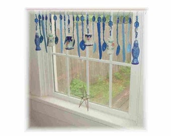 FREE SHIPPING! Savings of Twenty Dollars Shipping Costs!  Shaking up the BLUES Kitschy Kitchen  Window Treatment Valance