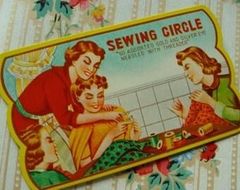 Antique Needle Book Sewing Needle Set unused