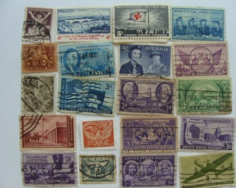 20 Gorgeous Antique Postage Stamps N0 92