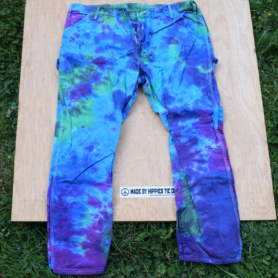 Impressionist Tie Dye Jeans (Dickies Painters Pants Size 42x30) (One of a Kind)