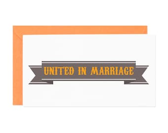 United in Marriage Enclosure Gift Card