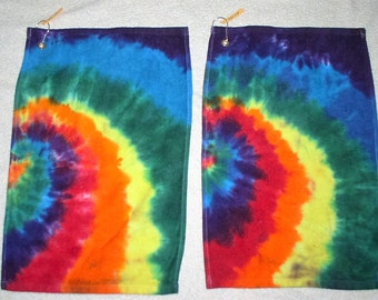 Golf Towels, tie dyed, 100% cotton. GT13,14.