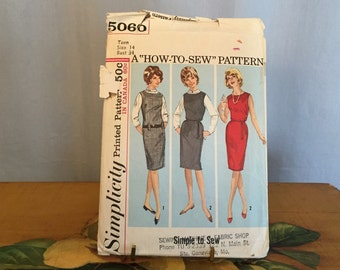 Dress Sewing Pattern Simplicity 5060 Teens' and Juniors' Jumper and Dress