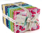 ON SALE Color Theory Fat Quarter Bundle Fabric - Moda - V And Co - 40 Fq