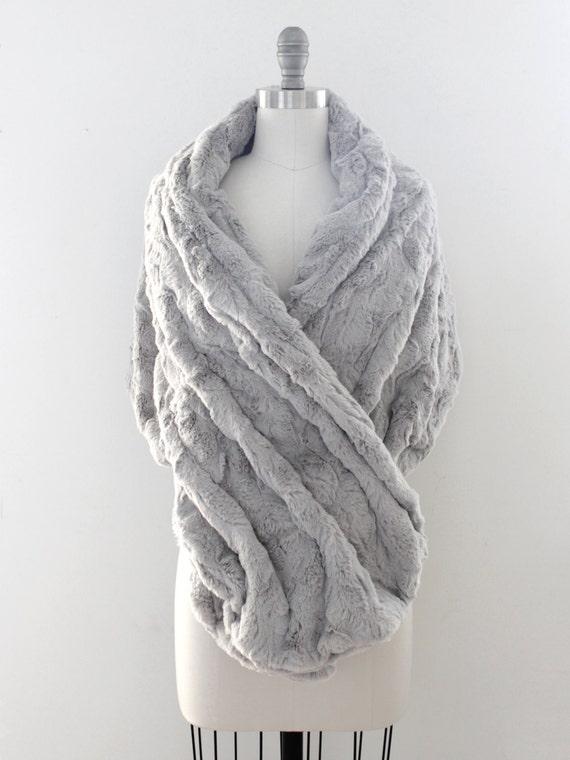 Wedding shawl winter wedding bridal fur stole by davieandchiyo for Winter shawls for wedding dresses