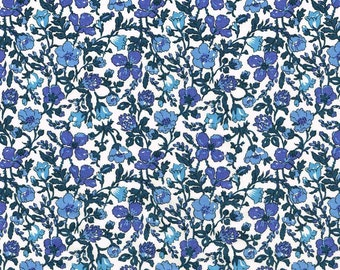 Liberty Tana Lawn Meadow A Blue Floral Fabric- Fat Quarter