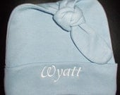 Personalized Custom Embroidered Personalized Baby Knot Hat Cap Beanie. Hospital homecoming. newborn baby. baby shower gift.