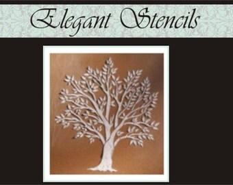 Raised Plaster Stencil Miniature Tree Wall Stencil, Decorative Stencil, Furniture Stencil, Wall Decor