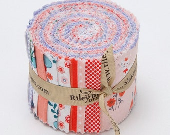 SUMMER SALE - Rolie Polie (40 strips) Jelly Roll - Princess Dreams - Riley Blake Designs