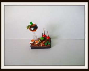 dollhouse miniature Gothic Witch Vintage Halloween tray Can be custom made too