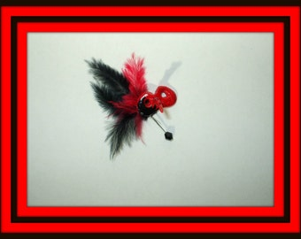 Gothic Halloween Witch Red Venetian Mask dollhouse miniature 2