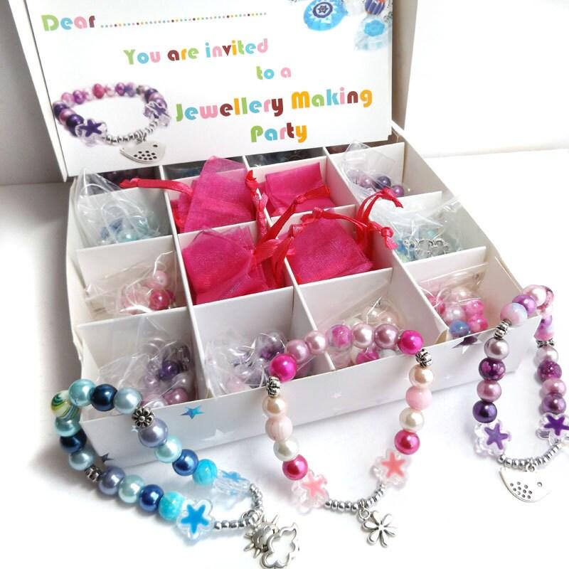 DIY Stretch Charm Bracelet Party In A Box Kit DIY Jewelry