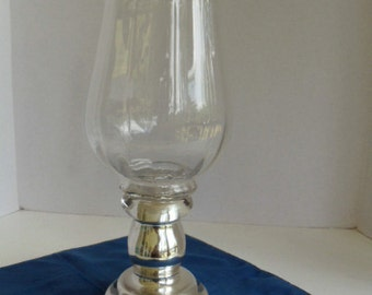Glass Covered Hurricane Candle Holder