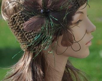 hand crocheted head snuggle, headband