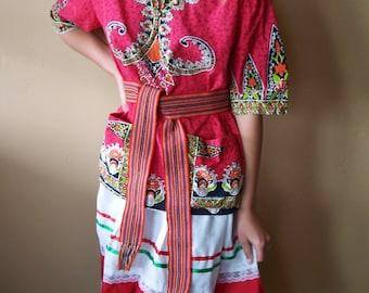 Boho Blouse, Thai Shirt, Thailand Cotton Top, Bohemian Traveler, size S / M