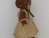 Prairie Dress with Pinafore and Bonnet, Fits 18 Inch American Girl Dolls