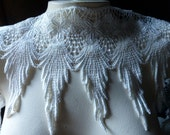 Ivory Lace Trim for Bridal, Garters, Jewelry or Costume Design L
