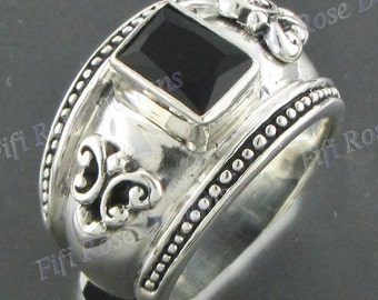 Design Onyx Gems 925 Sterling Silver Sz 8 Ring