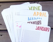 Perpetual Calendar, Wall Calendar, Birthday Planner, Organizer, Monthly Calendar, Bird - single sheets