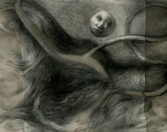Original mixed media drawing - Untitled 150617