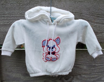 Vintage 80's Little Dog Baby Back Zip Hoodie