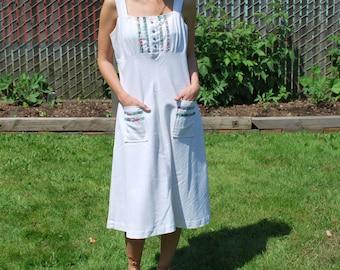 Vintage Sweet Natural Prairie Dress