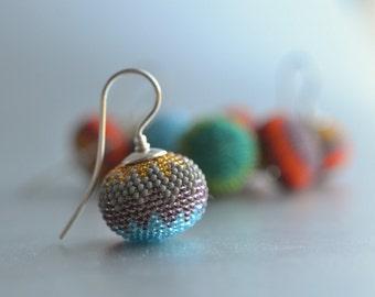 earrings chevron blue