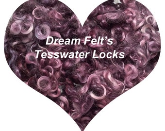 Dream Felt's Beautiful Purple, Violet, Lavender Teeswater Locks 1 oz  for Hair, Needle Felting, Wet Felting, Spinning, Doll Hair and more!