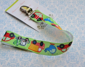 Cars and Trucks Pacifier Clip