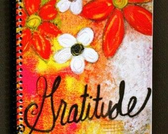 "Gratitude 5.5"" x 8.5"" Coil Bound Gratitude Journal, Stationery, Daily Gratitude Notebooks"