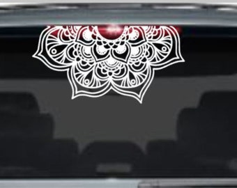 Mandala Car Decal - Mandala Sticker - Mandala Decal - Vinyl Decal