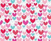 SALE Riley Blake hearts, 1 yard