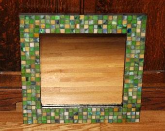 Nautral Greens Mosaic Mirror