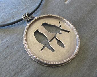 Sterling Silver Bird Lover's Pendant