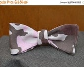 Pink and Brown Camouflage  Bow Tie