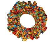 Ribbon headband/Hair Scrunchies/Ruffle Scrunchie/ ribbonScrunchie/ multicolored  Scrunchie /Handmade Scrunchie /Gift Under 10/gift for her
