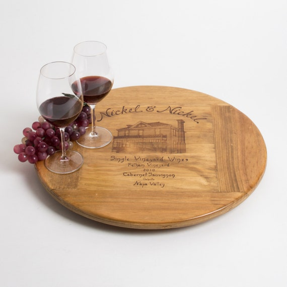 large nickel and nickel wine crate lazy susan by. Black Bedroom Furniture Sets. Home Design Ideas
