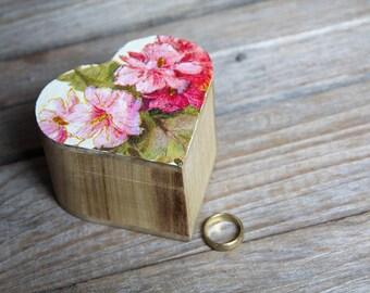 Red Wedding Ring Bearer Box, Pillow Alternative, Rustic, Summer, Beach Wedding