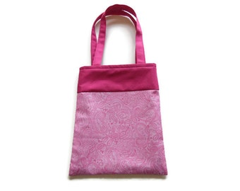 Fabric Paisley Gift/Goodie Bags - Pink Paisley