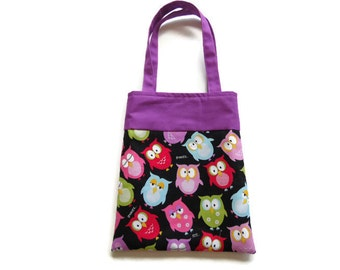 Fabric Owl Gift/Goodie Bag - Owls