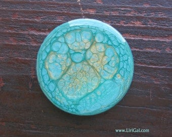 Turquoise Crystal Resin Round Cabochon Cab 38mm(C45)