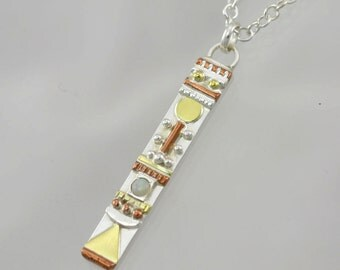 "Totem Necklace with Stone(Opal) (18"") Made to Order"