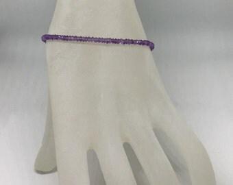 purple amethyst beaded bracelet * february birthstone * february birthday gift * dainty bracelet * bridesmaid gift * Mother's Day gift